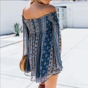 Vici Bell Sleeve Off Shoulder Dress